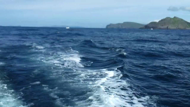 """VIDEO<br /> <br /> circa 13:59...click the above image to view a 16 second video clip as """"Arthur"""" heads for Dursey Head. <br /> <br /> When the video is 'Loaded' you will need to click on the 'Play' button to start the video playback.<br /> <br /> NOTE that viewing the video will cause another page to open in which the video will play. To return to the PhotoJournal click on the X at top right-hand corner of the video page  OR hit the 'Back' button on your browser."""