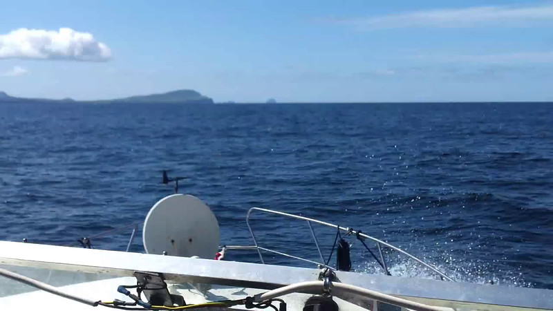 """VIDEO<br /> <br /> circa 12:07....DOLPHINS!...click the above image to view a 33 second video clip as """"Arthur"""" heads for Valentia Head. <br /> <br /> When the video is 'Loaded' you will need to click on the 'Play' button to start the video playback.<br /> <br /> NOTE that viewing the video will cause another page to open in which the video will play. To return to the PhotoJournal click on the X at top right-hand corner of the video page  OR hit the 'Back' button on your browser."""