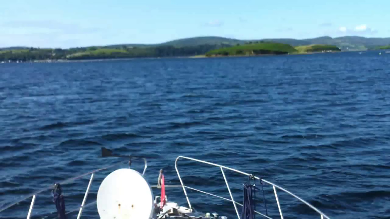 """VIDEO<br /> <br /> 09:46...click the above image to view a 53 second video clip  of """"Arthur"""" as she approaches the entrance to Bantry Harbour. <br /> <br /> When the video is 'Loaded' you will need to click on the 'Play' button to start the video playback.<br /> <br /> NOTE that viewing the video will cause another page to open in which the video will play. To return to the PhotoJournal click on the X at top right-hand corner of the video page  OR hit the 'Back' button on your browser."""