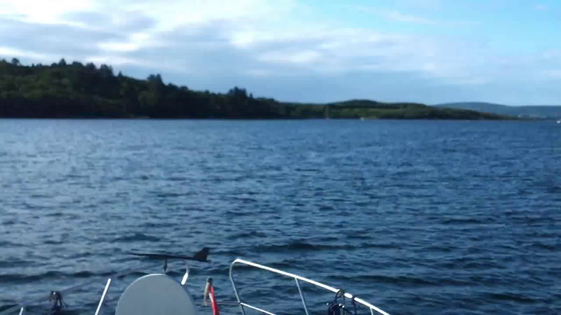 "VIDEO<br /> <br /> 09:04...click the above image to view a 38 second video clip  of ""Arthur"" departing Glengarriff Harbour. <br /> <br /> When the video is 'Loaded' you will need to click on the 'Play' button to start the video playback.<br /> <br /> NOTE that viewing the video will cause another page to open in which the video will play. To return to the PhotoJournal click on the X at top right-hand corner of the video page  OR hit the 'Back' button on your browser."
