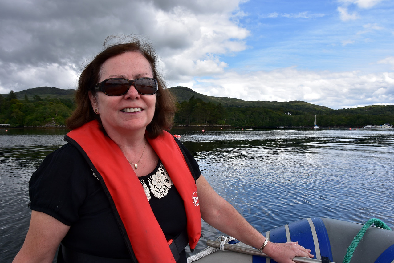 The smile on Mary's face reflects our happiness at being back in Glengarriff. This is our third visit in four years.