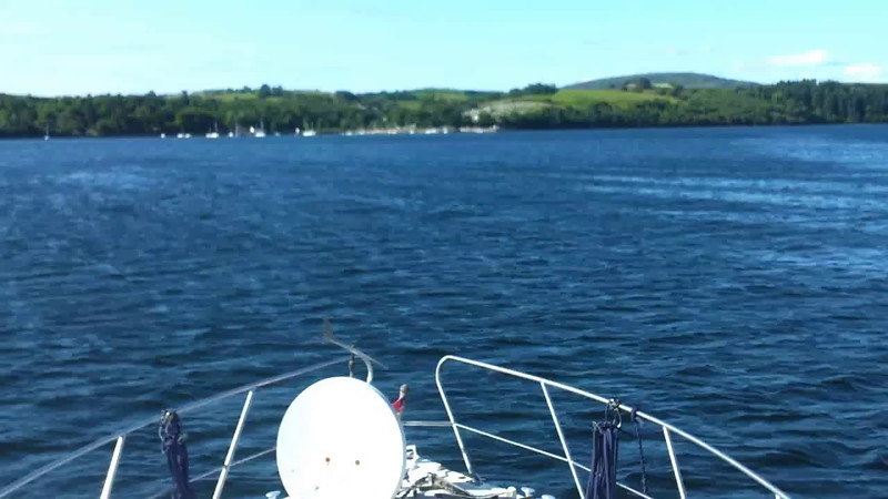 "VIDEO<br /> <br /> 09:52...click the above image to view a 40 second video clip  of ""Arthur"" as she enters Bantry Harbour.  <br /> <br /> The 'fun' is about to start!!! <br /> <br /> When the video is 'Loaded' you will need to click on the 'Play' button to start the video playback.<br /> <br /> NOTE that viewing the video will cause another page to open in which the video will play. To return to the PhotoJournal click on the X at top right-hand corner of the video page  OR hit the 'Back' button on your browser."