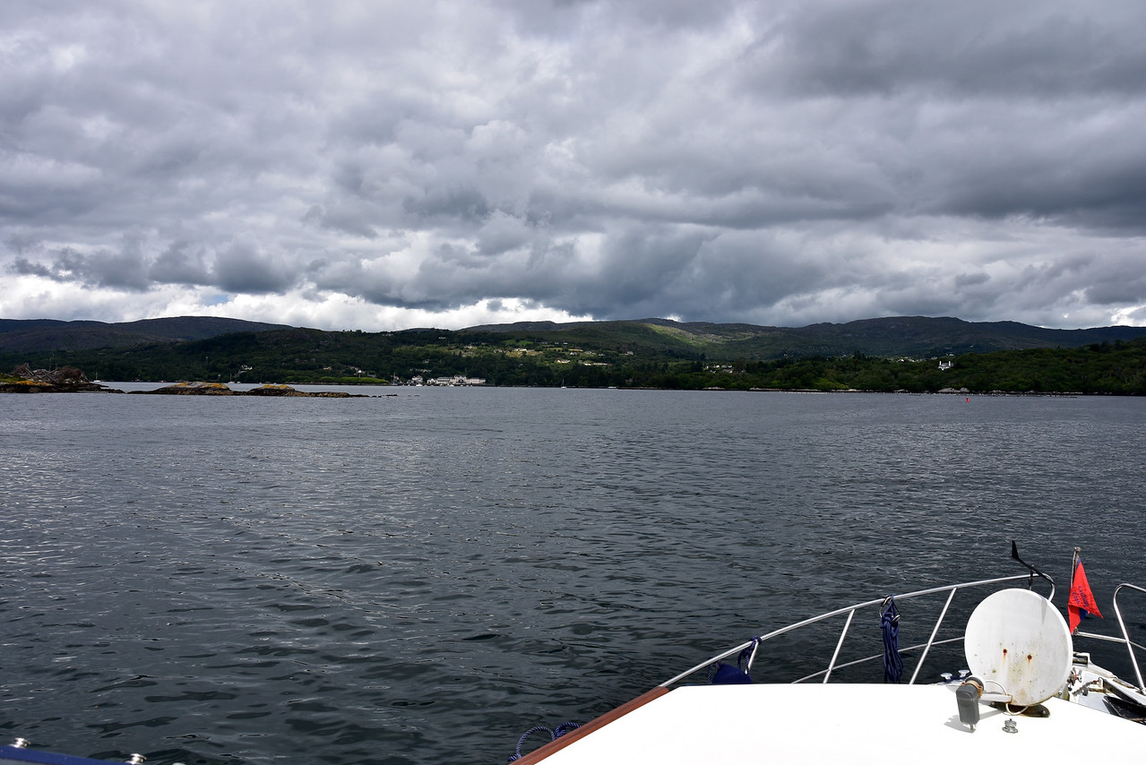 13:25...we are approaching Glengarriff Harbour.