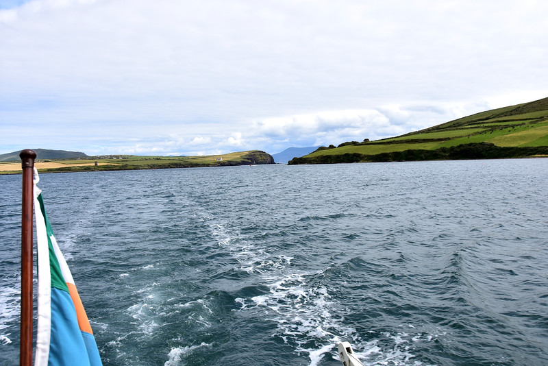 15:42...Looking back at the entrance to Dingle Harbour from Dingle Bay.