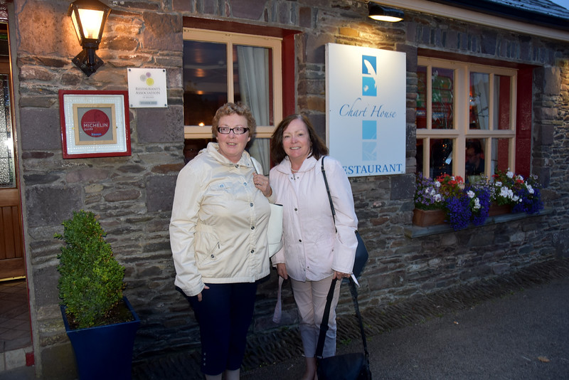 circa 21:25 and we have just had dinner in the Chart House. Dingle is of course a gastronome's paradise and this was one restaurant which we had not previously visited.  A lovely meal and a nice finish to a great day.