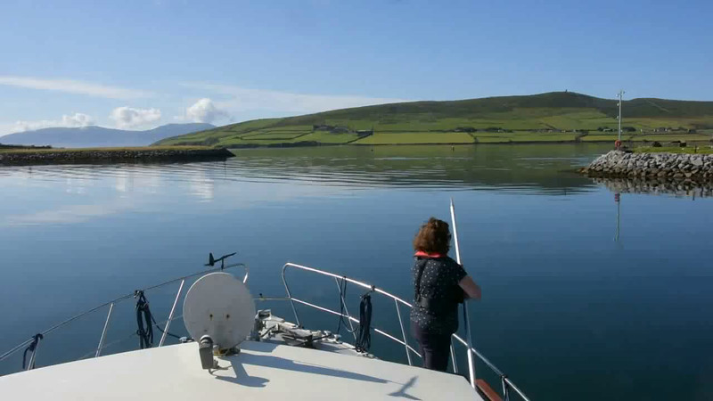 "VIDEO<br /> <br /> 09:36...click the above image to view a 16 second video clip  of ""Arthur"" as she departs Dingle Marina. <br /> <br /> When the video is 'Loaded' you will need to click on the 'Play' button to start the video playback.<br /> <br /> NOTE that viewing the video will cause another page to open in which the video will play. To return to the PhotoJournal click on the X at top right-hand corner of the video page  OR hit the 'Back' button on your browser."