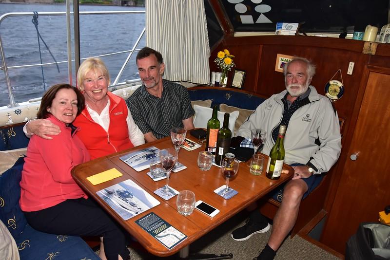 "circa 20:45...enjoying a glass of vino on ""Arthur"" with Mary, Breda Ryan, Neill Barnaby and John Ryan."
