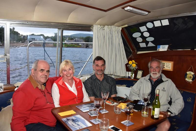 "circa 20:45...enjoying another glass of vino on ""Arthur"" with Breda Ryan, Neill Barnaby and John Ryan."
