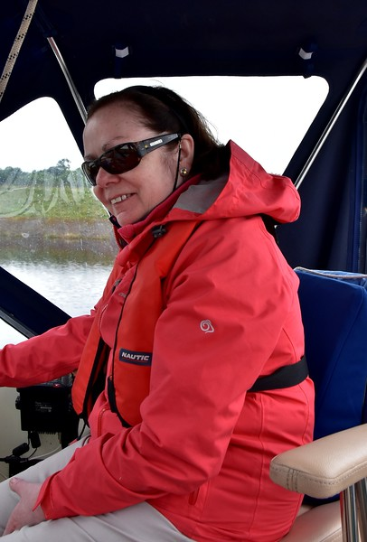 Mary does some helming...