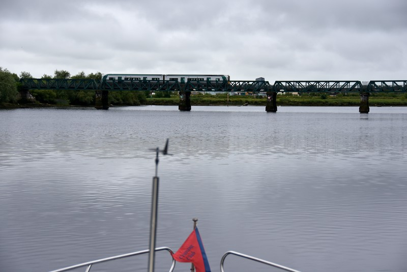 How about that for timing! We approach the Railway Bridge just as a train passes over it!