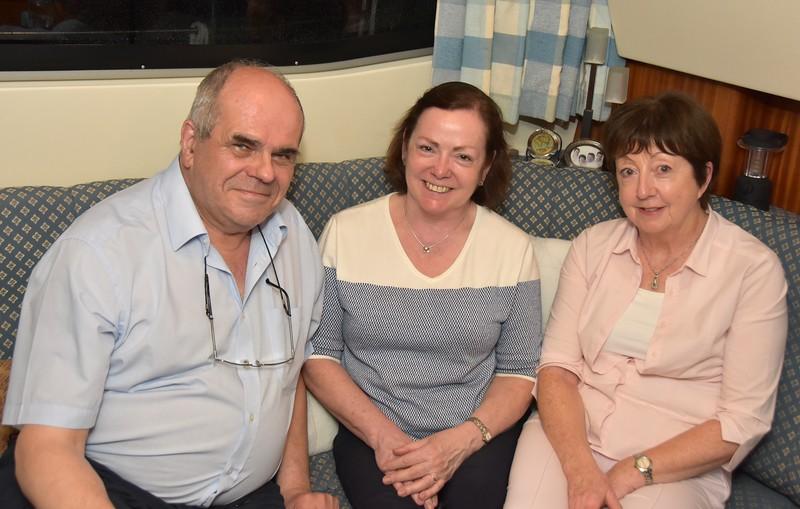 Paul & Mary enjoying the hospitality of Paddy & Irene on-board 'Courtmac'.