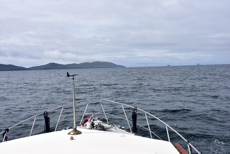 11:22... Heading towards the entrance to Dursey Sound. The Bull and The Cow off Dursey Head in background.<br /> <br /> Updated as of 07.05.2018...Correction of previous, and incorrect, reference to 'The Skellig Islands'. Thank you Tom Kirby and Dermot Mangan.