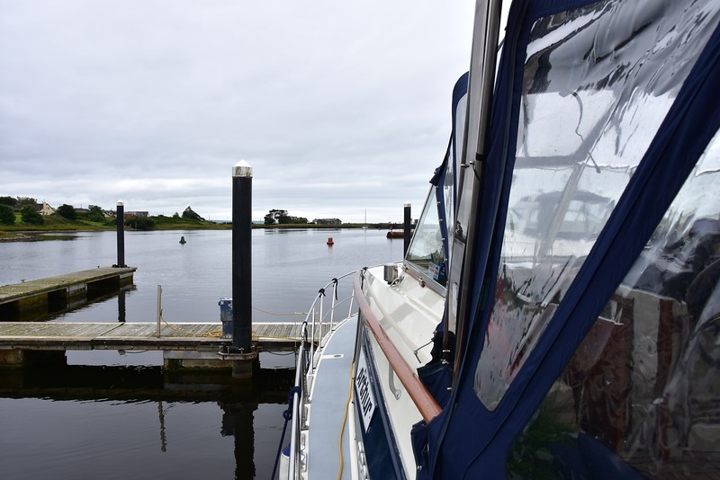 "circa 10:48.... ""Arthur"" in her berth prior to departing Kilrush Marina. Mary took a quick trip to Supervalu to collect some provisions."