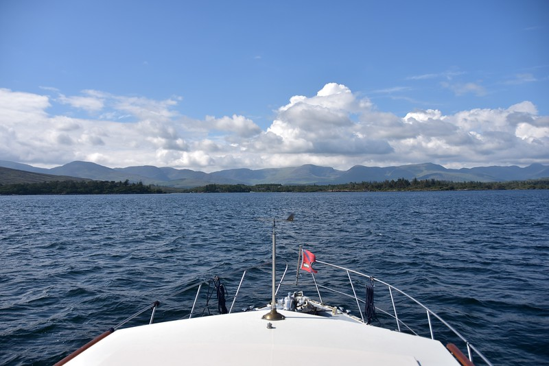 """circa 16:35...""""Arthur""""  makes the approach to Sneem Harbour."""