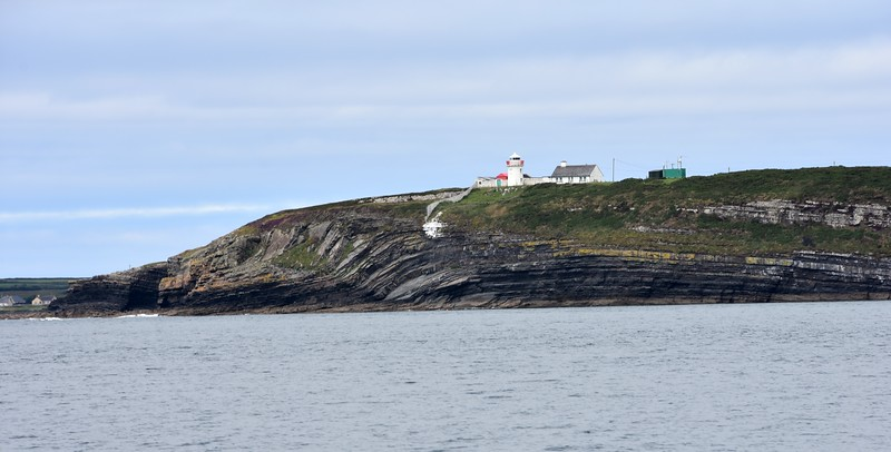 12:25...Passing Kilcredaun Lighthouse.