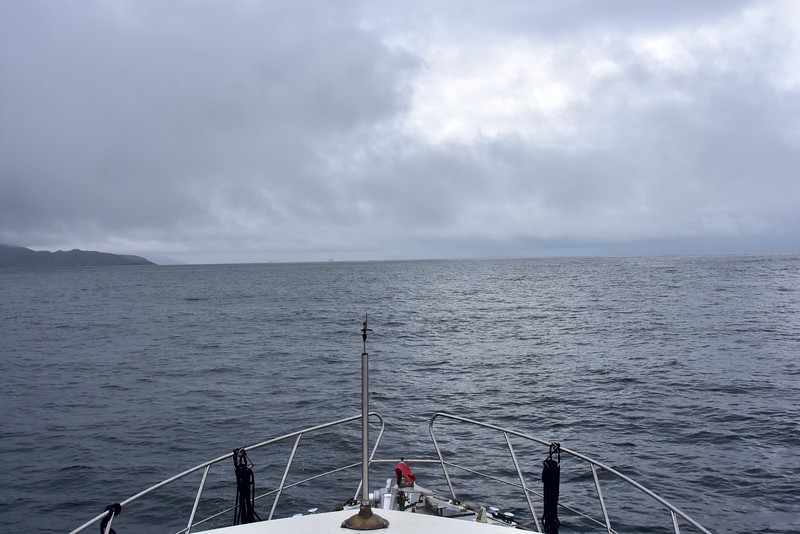 circa 10:45... Heading down the Kenmare River. Breezy and overcast.