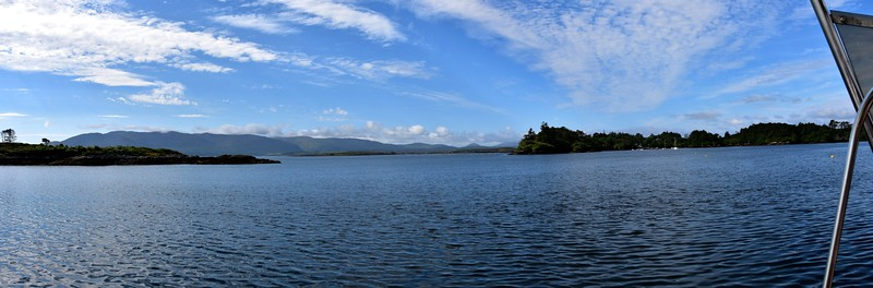 A panorama of Sneem Harbour.