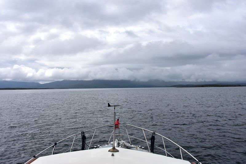 09:40...We have departed Sneem. Our passage plan will take us down the Kenmare River, through Dursey Sound and then up Bantry Bay and into Berehaven and finally a berth at Lawrence Cove Marina on Bere Island. Passage length is approx. 32NM and will take us circa 4 hours to complete.
