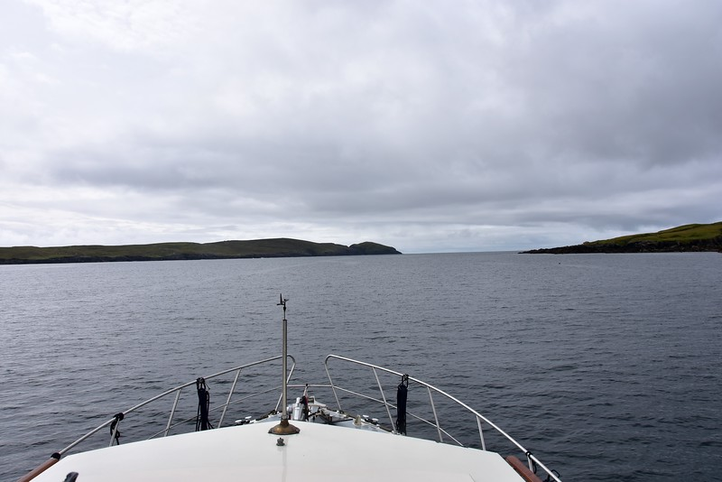 11:51... Quite calm in Dursey Sound.  The entrance to Bantry Bay ahead.
