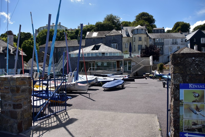 14:43...we walk to the Kinsale Yacht Club premises to register for our berth. Located in front of the marina the premises boasts a lovely clubhouse which commands a great view of the harbour.