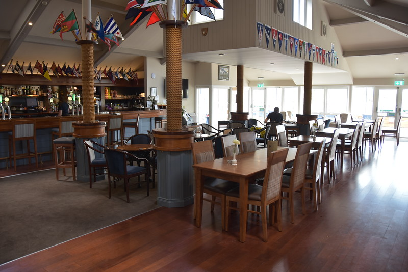 Clubhouse and bar at Kinsale Yacht Club.