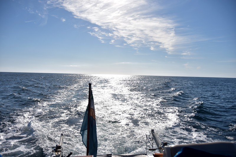 08:57...Looking astern. What a sky!