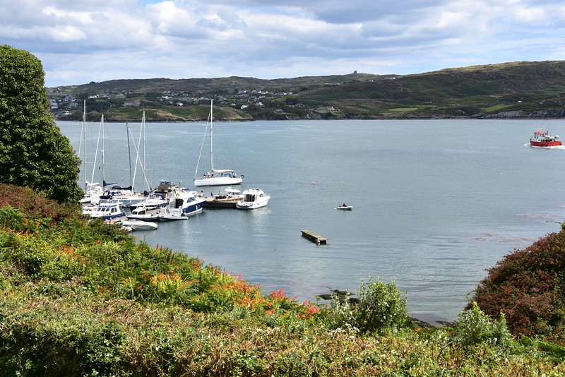 Sherkin Island Marina as viewed from 'Islander's Rest'.