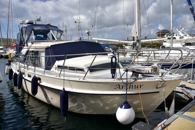 """Arthur"" in her berth at Dingle Marina. This is a super marina. Almost in the middle of the town. Great facilities, both in the marina and the town!"