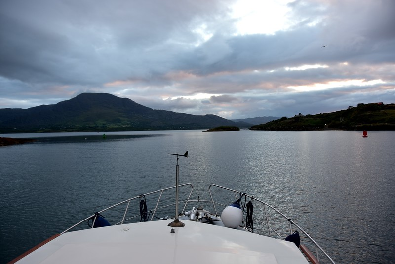 06:21...heading for Berehaven and west entrance onto Bantry Bay.