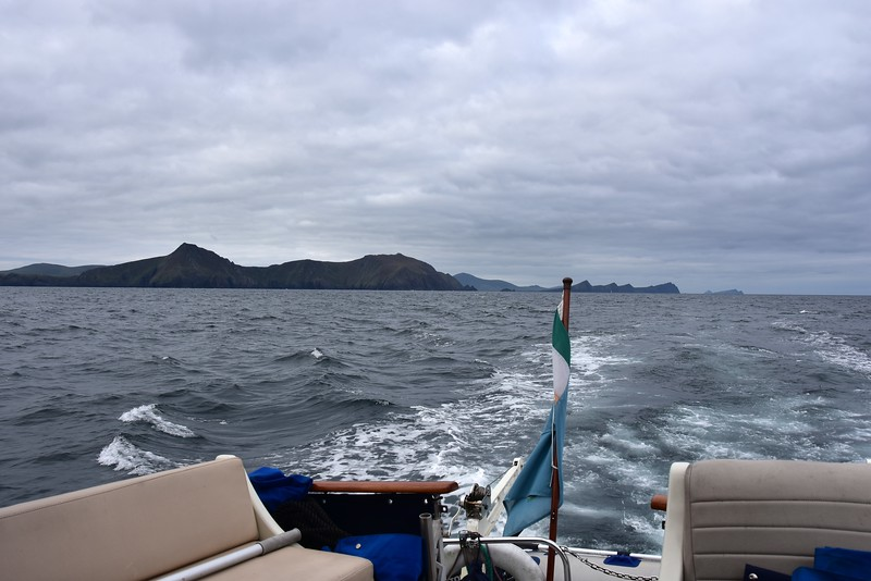 09:15...looking astern at the Three Sisters.