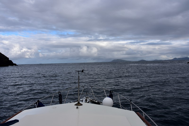 08:35...Exiting Dursey Sound. Kenmare River on right. It seems like eons ago since we visited Sneem!
