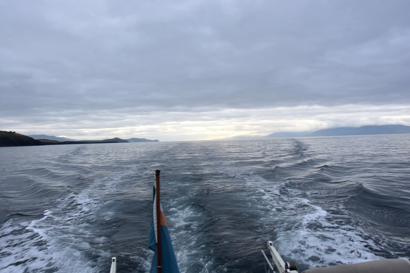 07:18...Another 'looking astern' shot  on Dingle Bay as we get ready to transit the Blasket Sound.