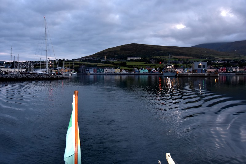 06:08...Leaving Dingle in our wake... not that we're generating much wake!