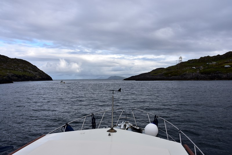 08:33...Transiting Dursey Sound. A small fishing vessel coming towards us.