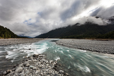 Confluence, Otehake and Taramakau rivers, Arthurs Pass National Park