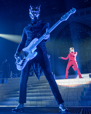 Swedish rock band Ghost play live in concert at the Wembley SSE Arena 22 November 2019