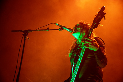 Swedish metal band Tribulation play live at The Wembley SSE Arena