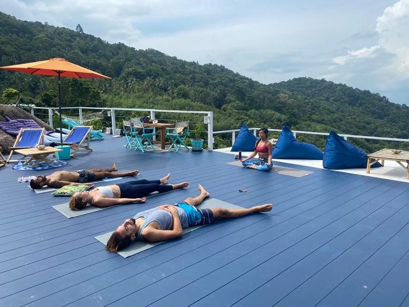 Yoga at Retro Mountain