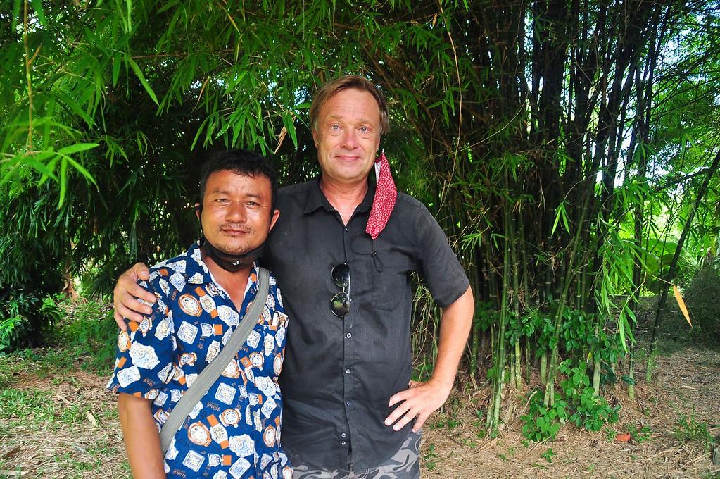 Ole Norheim and one of the Myanmar leaders Jonat Hla Kyaw.