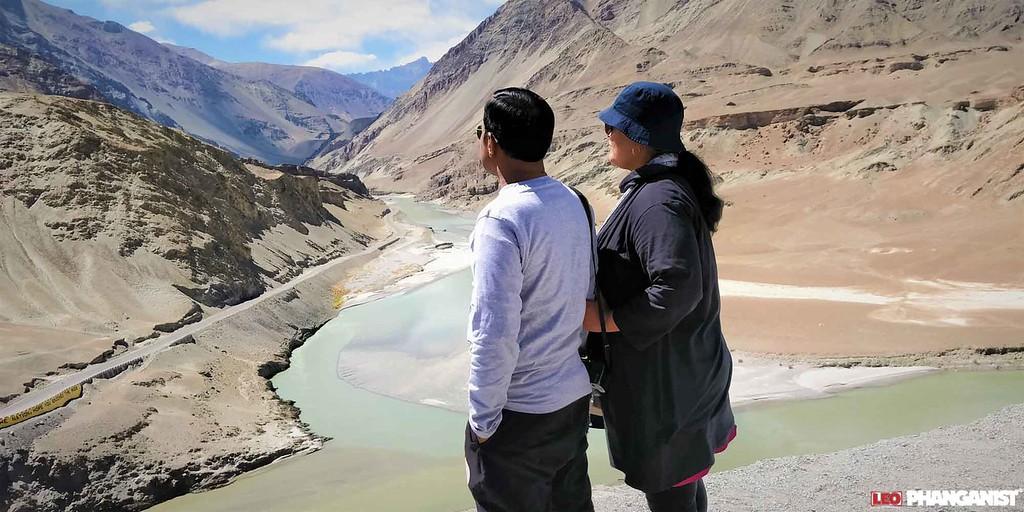 Zanzkar Confluence in Ladakh India
