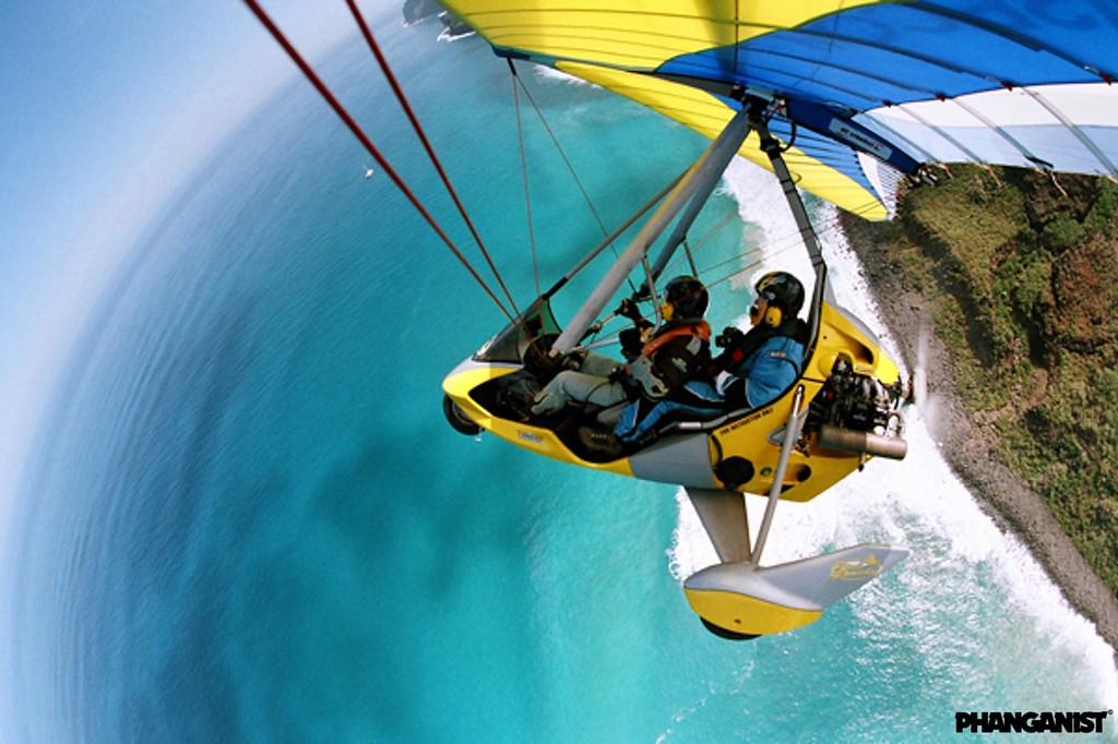 Ultralight flight in  Kauai