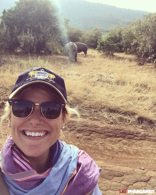 Katherine in Kenya- with the only 2 northwen white rhinos in the Masai Mara
