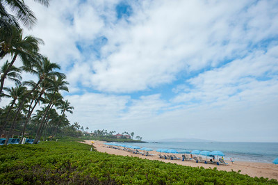 Wailea Beach Morning, 宿泊客専用パラソル