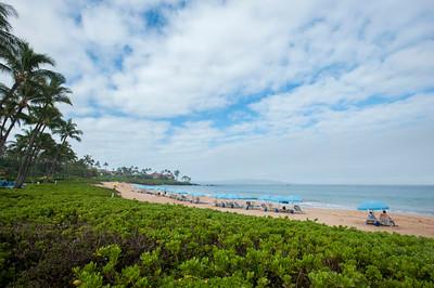 Wailea Beach, Morning 宿泊客専用パラソル