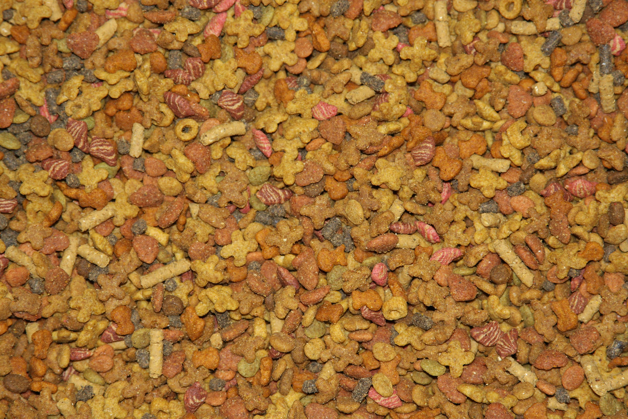 A closeup of Hamor Hollow's custom food mix.