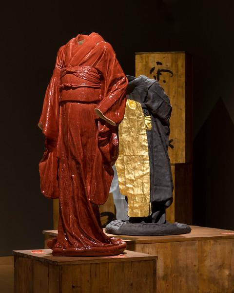 Sculptures of Kimonos   Ceramic, Glass   Artwork by Karen LaMonte