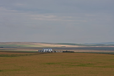 The sky still stretches out across the Alberta prairie, as far as you can see.