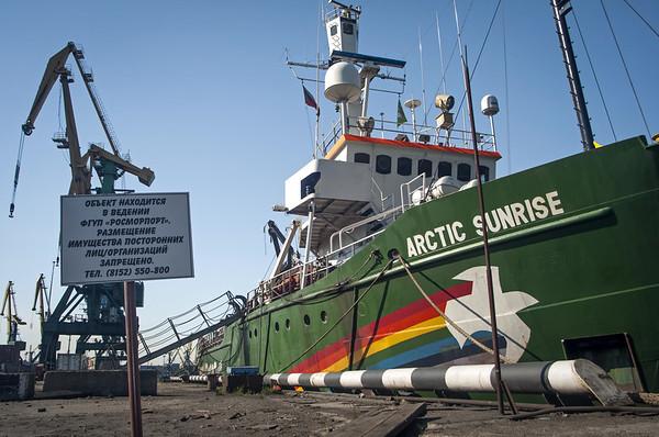 MY Arctic Sunrise Prepares to Depart from Murmansk