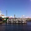 El Arctic Sunrise a su llegada a aguas holandesas a su paso por IJmuiden