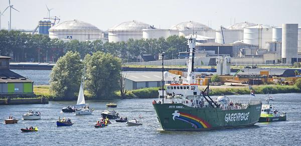 Arctic Sunrise Sails To Amsterdam